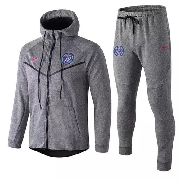 Тренировочный костюм ПСЖ серый сезон 2018/19