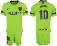 Футбольная форма для детей Барселона гостевая Месси 2018-2019