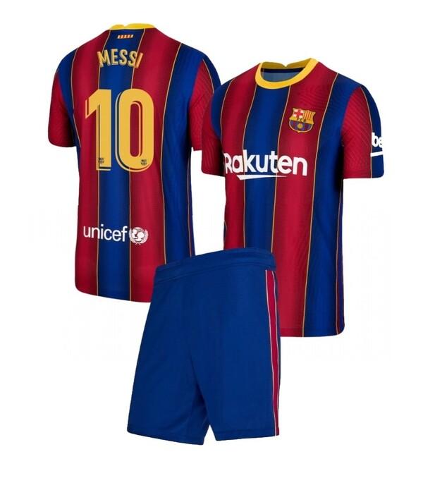 Детская домашняя форма Барселона (Barcelona) сезон 2020-2021 Месси 10