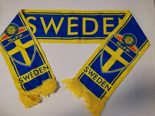 Флисовый шарф сборной Швеции