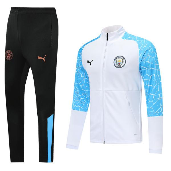 Спортивный костюм Манчестер Сити бело-голубой сезон 2020-2021