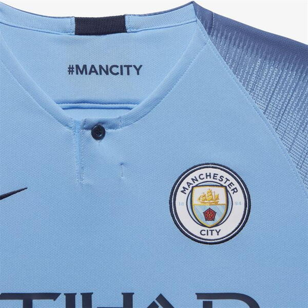 Детская футболка Манчестер Сити домашняя сезон 2018/19
