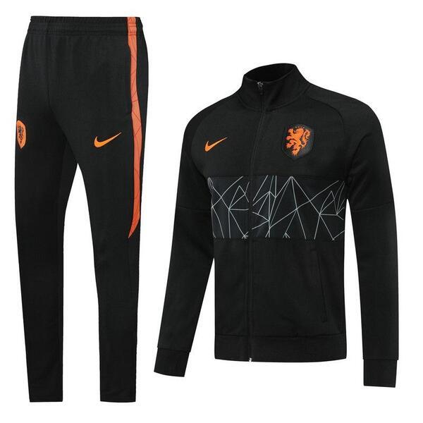 Костюм спортивный сборной Голландии черный сезон 2020-2021
