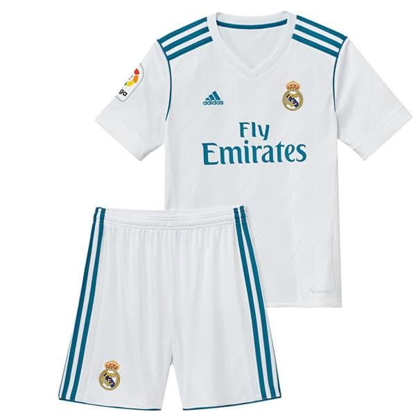 Реал Мадрид Футбольная форма детская для домашних игр 2017-2018