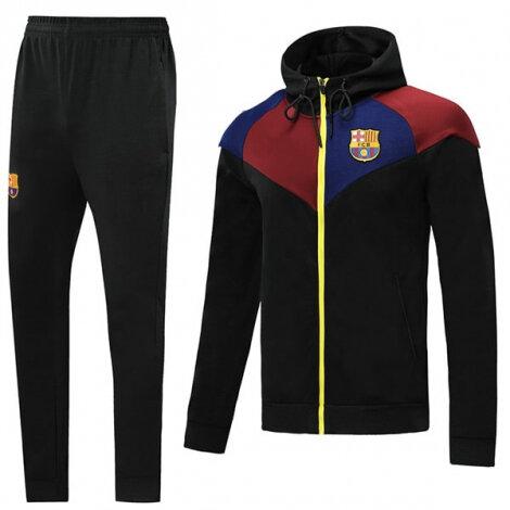 Тренировочный костюм Барселоны черно-гранатовый 2020-2021
