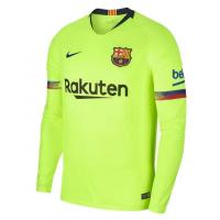 Гостевая футболка Барселоны длинный рукав 2018-2019