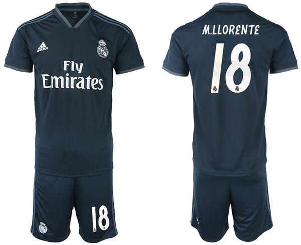 Реал Мадрид Футбольная форма для детей гостевая номер 18 Маркос Льоренте 2018/19
