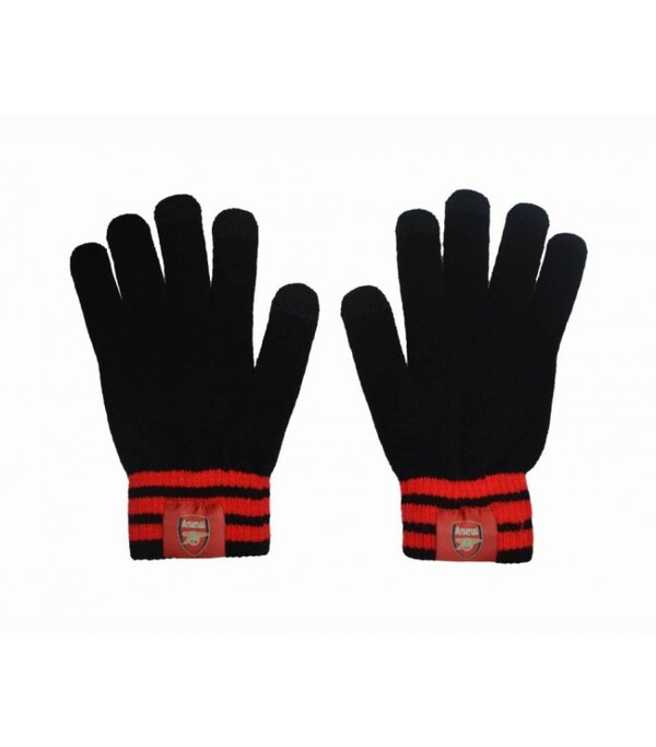 Вязаные перчатки с эмблемой Арсенала