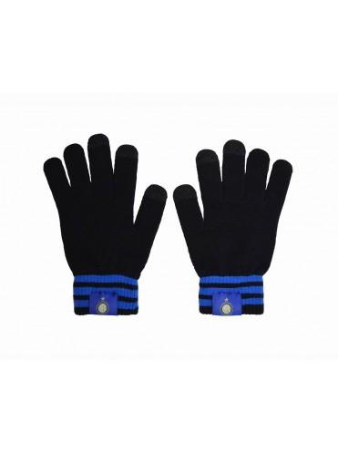 Зимние вязаные перчатки с эмблемой Интер Милан