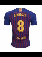 Футболка с именем Иньеста Барселона домашняя сезон 2018/19
