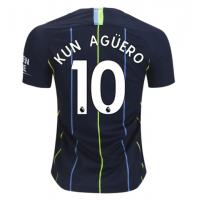 Футболка Манчестер Сити гостевая сезон 2018/19 Агуэро 10