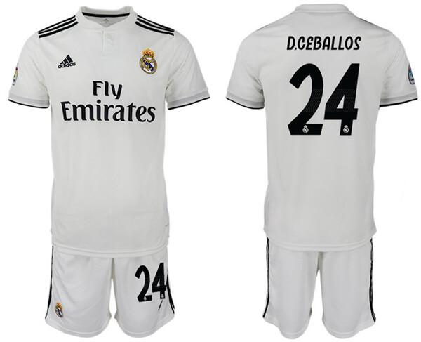 Реал Мадрид Детская футбольная форма игрок 24 Дани Себальос 2018/19