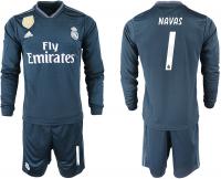 Майка гостевая Реал Мадрида 2018/19 с длинным рукавом номер 1 Кейлор Навас