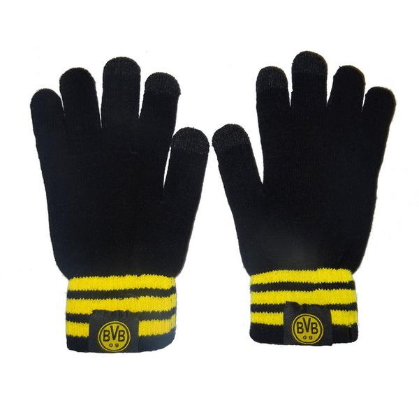 Теплые вязаные перчатки с эмблемой Borussia Dortmund